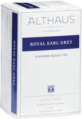 Чёрный чай Althaus Royal Earl Grey Deli Pack 20 пак