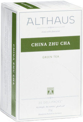 Зелёный чай Althaus China Zhu Cha Deli Pack 20 пак