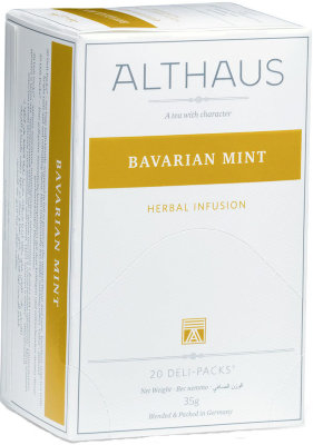 Травяной чай Althaus Bavarian Mint Deli Pack 20 пак