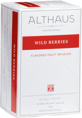 Фруктовый чай Althaus Wild Berries Deli Pack 20 пак