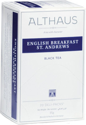 Чёрный чай Althaus English Breakfast St. Andrews Deli Pack 20 пак